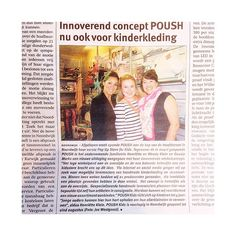 Trots op een prachtige vermelding over de #PoushKidsStore in de lokale krant van #NoordwijkaanZee! #PoushStore #ConceptStore #PopUp #Offline #winkelstraat
