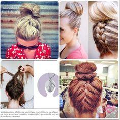 Cute braids with bun #hair #ideas #pin