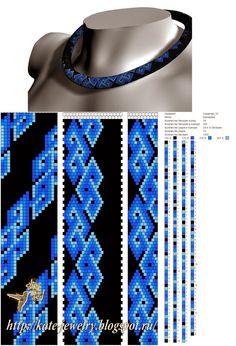 "Украшения из бисера и камней ""Beaded jewelry"": Схема для жгута ""Сердечки"""