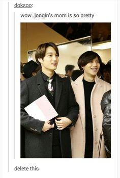 Isn't that Taemin's from SHINee. 😭<<Yeah that's the joke XD K Meme, Funny Kpop Memes, Exo Memes, K Pop, Kyungsoo, Chanyeol, Day6 Sungjin, Onew Jonghyun, Young K
