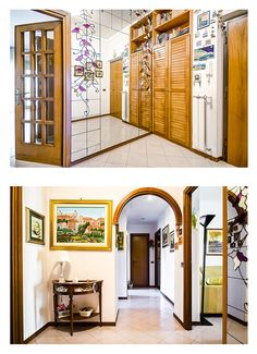Reale Estate Photography Rome   Hallway,    #realestate #photography #rome #italy #city #hallway #house #door #mirror