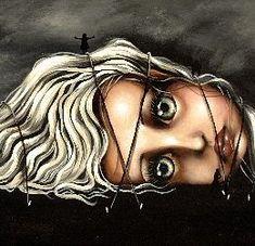 Gabrielle's Travels Dark Fantasy Art, Dark Art, Painted Headboard, Gothic Looks, Neon Painting, Cartoon Tattoos, Halloween Drawings, Goth Art, Pop Surrealism