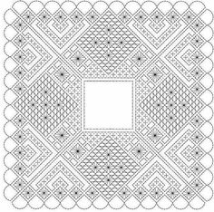 Pañuelo de bolillos Bobbin Lace Patterns, Embroidery Patterns, Bobbin Lacemaking, Lace Art, Needle Lace, Lace Making, Needlepoint, Coloring Pages, Needlework