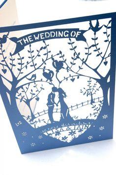 Laser cut Country garden wedding invitations