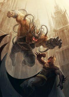 assorted-goodness:  Batman and Bane Cover Created byTitanbolzen Artist: Website|| DeviantART