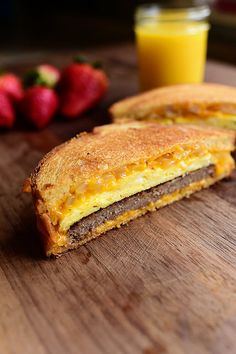 If this breakfast sandwich and this patty melt met at a bar, flirted, began dating, fell madly in love, became engaged, got m...