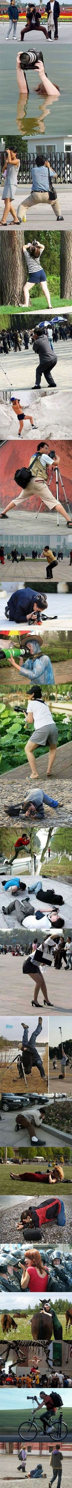 Anything to get the shot.