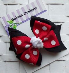 Boutique Minnie Layered Hair Bow by Balasadesigns on Etsy