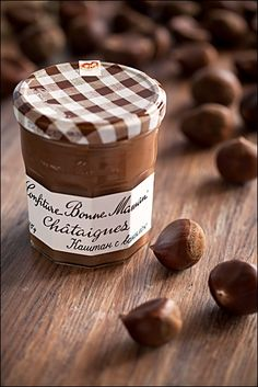 Sweetened chestnut paste! Perfect for spreading onto freshly made crêpes & topping with clouds of freshly whipped sweet cream!