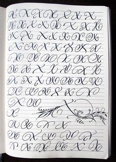 Majuscule X variants by Polish calligrapher Barbara Galinska on Behance