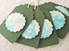 Alice in Wonderland Paper Gift Tags and Stickers 5 Tags and 8 Stickers  $4.00