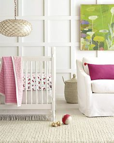 The nursery just got sweeter with our Cherries Crib Sheet | Image via #serenaandlily