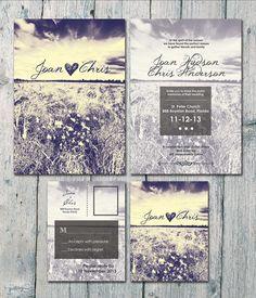 Digital Printable Files-Double-sided Autumn by WeddingSundaeShop