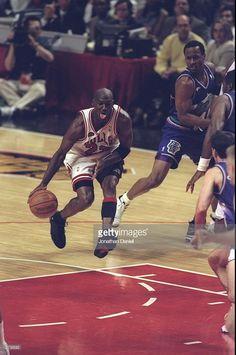 competitive price d5b1c 90f6b Fotografia de notícias   Michael Jordan of the Chicago Bulls in action...  Jeffrey