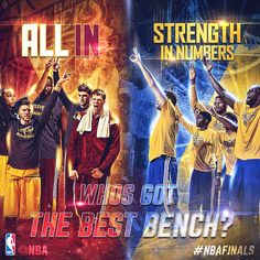 The bench will undoubtedly be a factor in the 2015 #NBAFinals; who's got the edge?