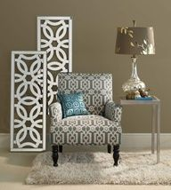 Champagne Mirrored Mosaic Damask Wall Panel | color ...