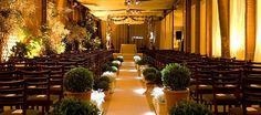 decoração para cerimonia de casamento em salão - Pesquisa Google