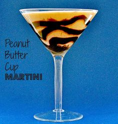 peanut butter cup martini - peanut butter, almond milk, honey, cinnamon, nutmeg, rum, chocolate syrup