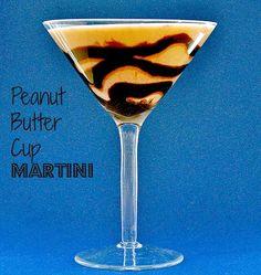 peanut butter cup martini - peanut butter, almond milk, honey, cinnamon, nutmeg, rum, chocolate syrup