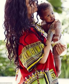 The singer spent some quality time with the tiny daughter of her cousin Noella Alstrom named Majesty