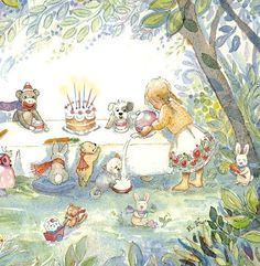 Tea Party with Friends 8 X 10 print by Periwinklesky on Etsy, $28.99