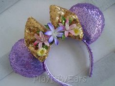 "Rapunzel ""Tangled"" Handmade Custom Mouse Ears inspired by Disney by PlayItByEars on Etsy https://www.etsy.com/listing/498039482/rapunzel-tangled-handmade-custom-mouse"