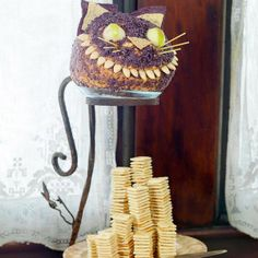 Cheshire Cat Cheese Ball - for a alice in wonderland party  or a mad hatter tea party