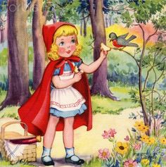 """Little Red Ridinghood"" Illustration by Mildred Wetmore"