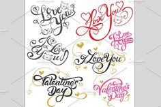 Love You, Lettering Design Vector @creativework247