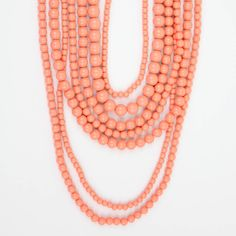 Layered Coral Necklace - Buy From ShopDesignSpark.com--love--comes in lime and aqua too!
