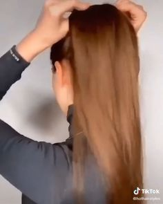 Hair Up Styles, Medium Hair Styles, Bun Hairstyles For Long Hair, Braided Hairstyles, Amber Hair, Cabello Hair, Long Hair Video, Hair Videos, Hair Hacks