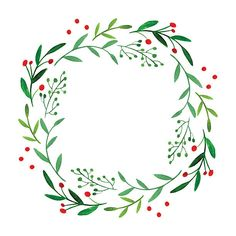 Wonderful Pics Spring Wreath illustration Suggestions For anyone who is straight into creating DIY early spring wreaths, you've probably challenged the Watercolor Christmas Cards, Christmas Drawing, Watercolor Cards, Christmas Art, Watercolor Flowers, Christmas Wreaths, Drawing Flowers, Watercolor Wedding, Wedding Drawing