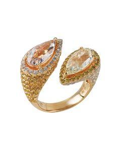 Diamond 'Twins' Ring