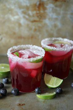 Blueberry Lime Margaritas - wedding cocktail
