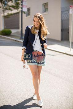 Gal Meets Glam- Blazer & Shorts