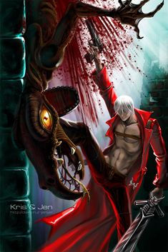 Devil May Cry. Dante by jen-and-kris on DeviantArt Dante Devil May Cry, Fantasy Male, Hot Anime Guys, Dragon Age, Game Character, Anime Manga, Game Art, Anonymous, Comic Art
