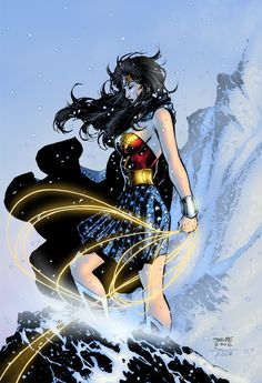 Wonder Woman | Artist: Jim Lee - she was a large part of my early childhood introduction to super heros.  If they'd only make movie about her.