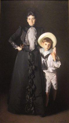 Portrait of Mrs. Edward L. Davis and Her Son, Livingston Davis, 1890, John Singer Sargent