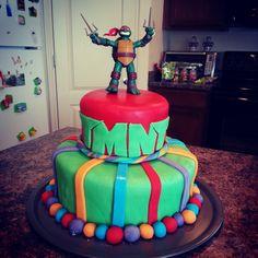 Teenage Mutant Ninja Turtle Birthday Cake #fondant #birthdaycake #tmnt, tmnt cake