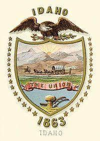 Idaho territory coat of arms