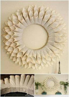 DIY paper wreath - Want to add a little vintage vibe to your home? An old book, hot glue gun and simple wreath form are all that you need to create a beautiful paper wreath that can be used all year-r (Diy Paper Wreath) Glue Gun Projects, Glue Gun Crafts, Cute Crafts, Crafts To Do, Diy Crafts, Paper Christmas Decorations, Christmas Crafts, Xmas, Diy Paper