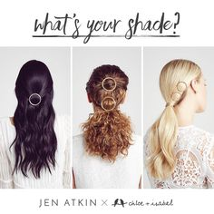 Your look is made in the shade all Summer-long on my boutique — find your perfect match now! Jen Atkin, jewelry, hair clip, accessories, necklace, bracelet, earrings, rings, gold, silver, rose gold, hematite, fashion