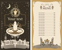Set of cafe and restaurant menu cover template vector 05 450x367 メニュー作りの参考に!カフェ&レストラン無料メニューテンプレート5セット(商用可・EPS)   Free Style