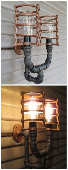 Steampunk Porch Light #industrial #lighting #lamp
