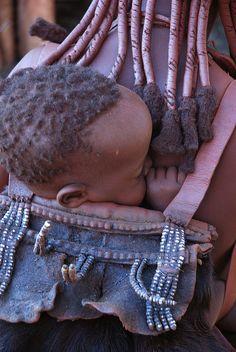 • Africa    Sleeping Himba baby.  Photo taken by Andrea Sosio in Opuwo, Namibia