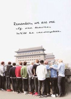 """""""Remember, We Are One. If one leaves, We'll be Incomplete . """" #EXO. #WeBelieveInYouKris"""