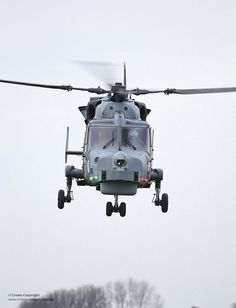 First Royal Navy Wildcat Helicopter Takes Maiden Flight - The first Royal Navy Wildcat Attack Helicopter undertakes its maiden flight at AgustaWestland in Ye - Attack Helicopter, Military Helicopter, Military Aircraft, Heavy Machine Gun, War Machine, Helicopter Private, Royal Marines, Air Travel, Royal Navy