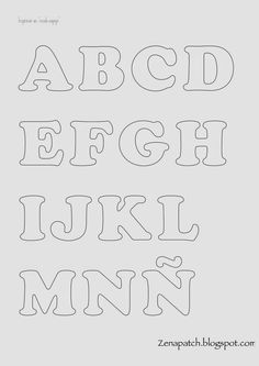 Abecedarios gratuitos para aplique ABC applique free template