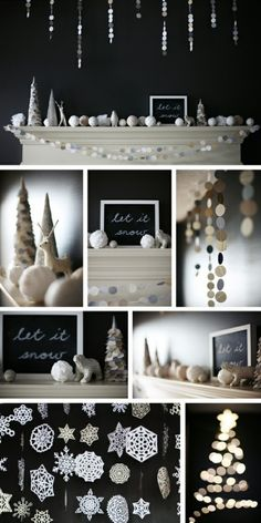 34 Awesome Winter Garlands For Creating An Atmosphere | Shelterness - liked the let it snow elegant colors but I would add in some gold & pearl accents