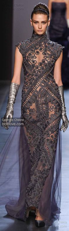 Soutache Embroidery Georges Chakra Fall Winter 2014-15 Haute Couture Collection